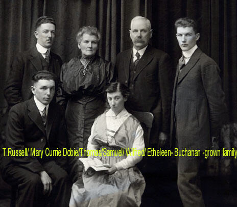 Family of Mary Currie Dobie and Thomas Buchanan